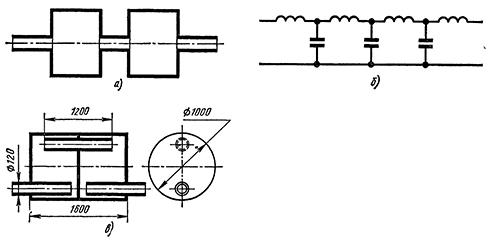 Схемы камерного гасителя вибраций трубопроводов (гаситель пульсаций давления)