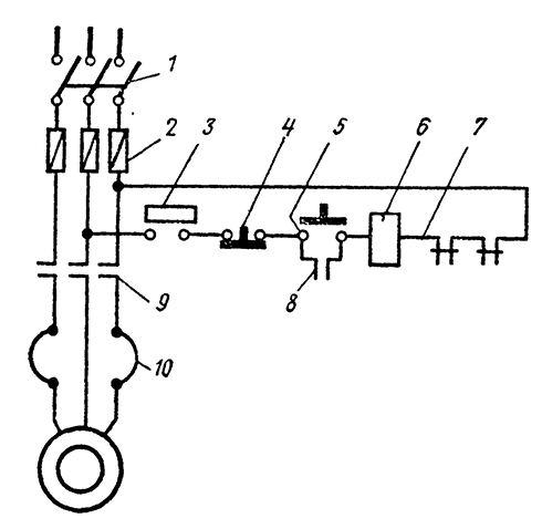 Схема электрической блокировки